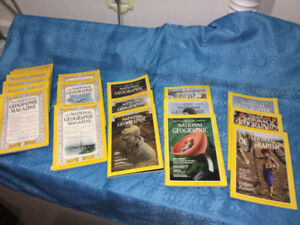 Vintage National Geographic Magazines mix of 50's - 90's