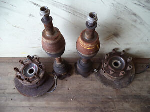 front cv axles and front hubs