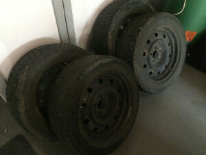 255/55/R17 Federal Himalaya Winter Tires with Rims