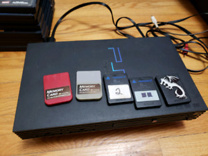 Ps2 with lots of games and extras.