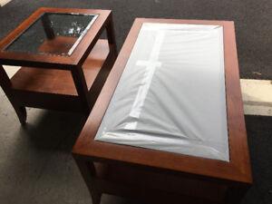 2 Tables de salon en bois