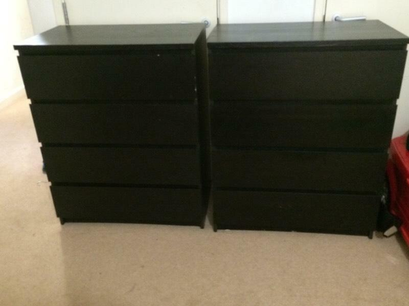 Ikea malm drawers x 4 drawers 2 available for Ikea malm collection