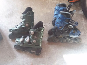 Size 2 and adjustable 3-6 rollerblades