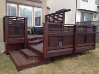 Now booking for decks and fences! Carpentry services any needs