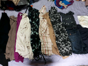 Large maternity clothing lot