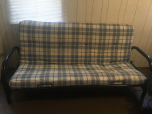 Futon and Queen Size Bed etc - must go