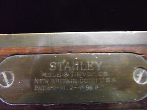 Antique Stanly Carpenters Level Rosewood with Brass binding London Ontario image 4
