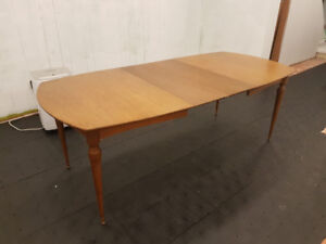 Teak Dining Table with 2 extension leaves ($500)