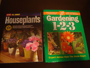 Home Depot Gardening and In house plant books