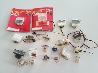 Lot Of Small Vintage Panel Electrical Meters