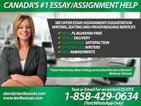 I offer exceptional essay and assignment writing service