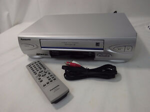 Panasonic 4 Head Hi-Fi Omnivision HS VCR with Remote & Cable