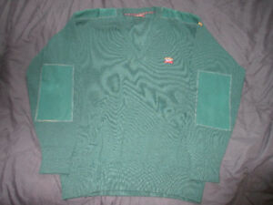 Paul & Shark Yachting, V Neck Knit, made in Italy, large, green.