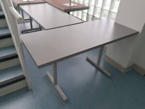 Heavy duty rectangle tables from a meeting room (approx. 8)