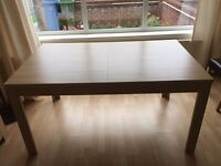 Solid wood extendable dining table immaculate condition