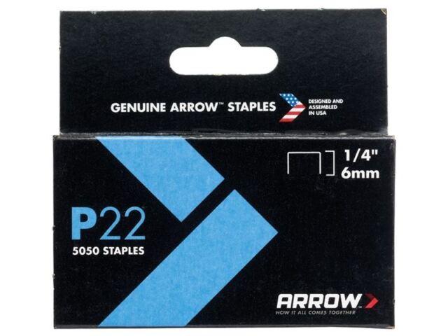 Arrow - P22 Staples 6mm (1/4in) Box 5050