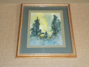 12 X 11.5 FRAMED EVE PYLYPIUK PAINTING FROM 1976