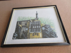 Shears Limited Edition Print - Vintage Ford Tractor & Cat!