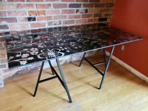 Attractive Glass top table/desk - perfect for back to school