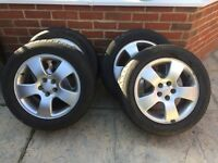 "Original Audi A3 Alloys 16"" with tyres"