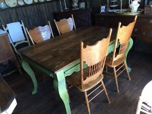 Restored&Refinished hand crafted SOLID Pine TABLE