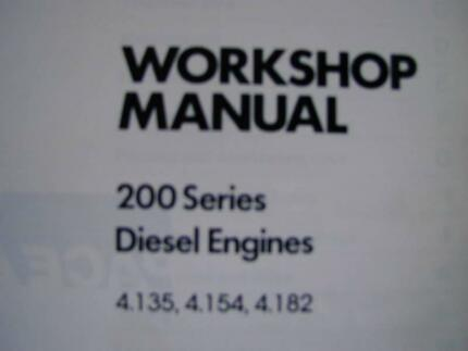 PERKINS 200 SERIES 4.135, 4.154, 4.182  ENGINE SERVICE MANUAL c83 Dianella Stirling Area Preview