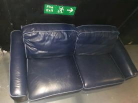 Blue 2 seater sofa - Brighton