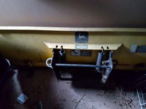 "John Deere 54"" front blade - 4-way hydraulic mount"