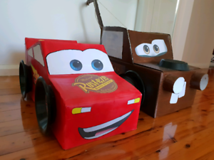 Diy Disney Cars Mcqueen And Tow Mater Costume Toys Indoor