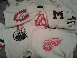 Lot de 17 T-shirt de hockey de la NHL tel de Canadiens de MTL