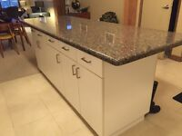 Granite Counter Top and Cupboards