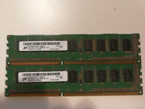 2 units of Micron 2GB PC3-10600 DDR3-1333MHz Memory