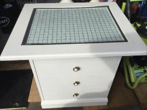 "SMALL CRAFT TABLE with 1"" GRID 3 DRAWERS  $65"