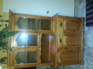 Maple Hutch and Buffet  $125.00