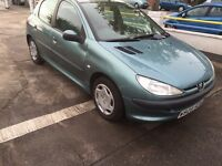 Peugeot 206 1.9 diesel mot April 2017