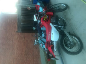 On road off road dual sport clean well kept xr650L
