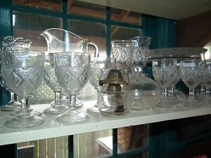 COLLECTION OF ANTIQUE EARLY CANADIAN PRESSED GLASS Sarnia Sarnia Area image 2