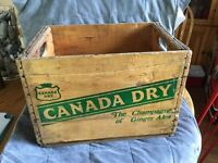 Canada Dry wooden box