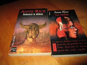 2 livres Anne Rice - chronique des vampires