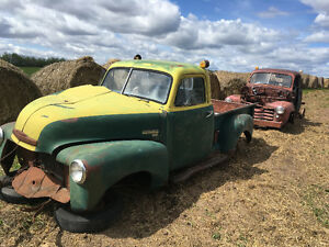 1952 Chevy short box trucks x 2