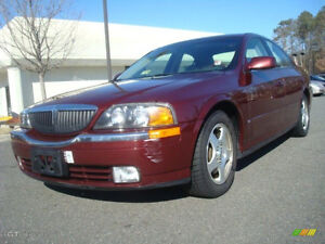 2000 Lincoln LS red Berline
