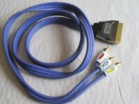1 x 1.5m IXOS RCA to Flat Scart Cable