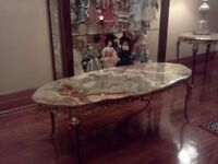 table marble antique