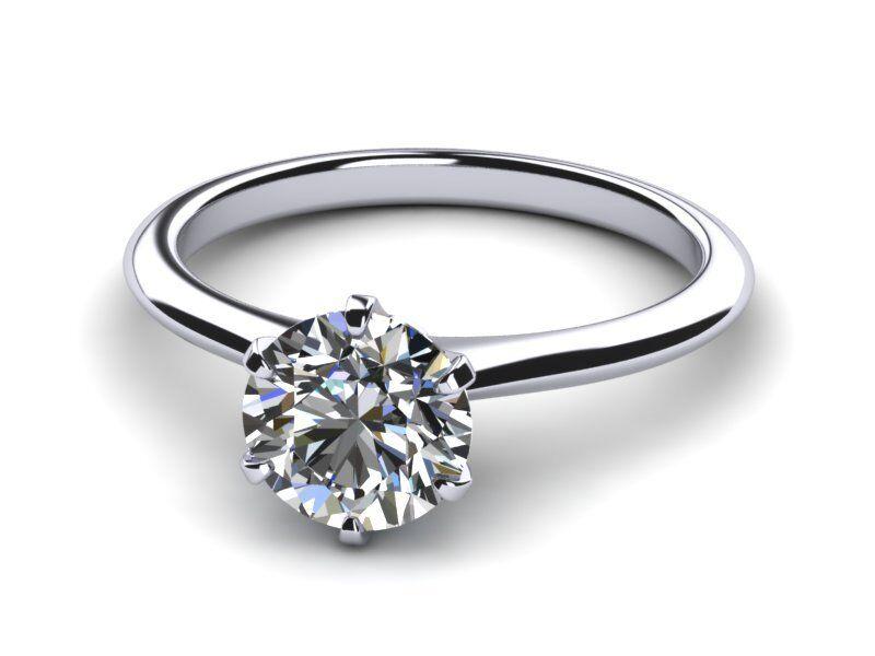Vvs2 Elegant Diamond Round Brilliant Ring 18 Karat White Gold Solitaire 2.5 Ct