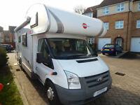 Burstner Nexxo Family A694, Ford 2.4 Diesel, 6 to 7 Berth, Bunk Beds 27k miles