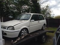Rover metro 114gta spares or repairs project