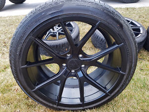 Verde Axis Satin black with Potenza Tires 225/40R19 245/40R19