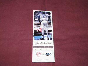Souvenir 'ticket' from 2010 Blue Jays/Yanks game, honoring Cito*