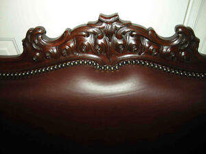 antique cherry wood sofa carved dolphins new leather Oakville / Halton Region Toronto (GTA) image 8