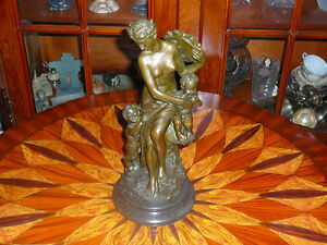 "Splendide bronze, sculpture SIGNEE13""x6"" patine chocolat aubaine"